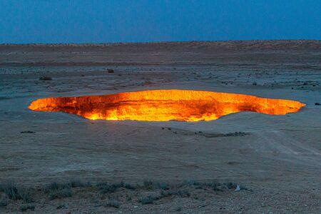 Darvaza (Derweze) gas crater (Door to Hell or Gates of Hell) in Turkmenistan