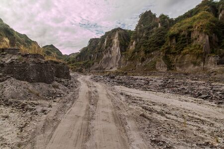 Lahar mudflow remnants at Pinatubo volcano, Philippines