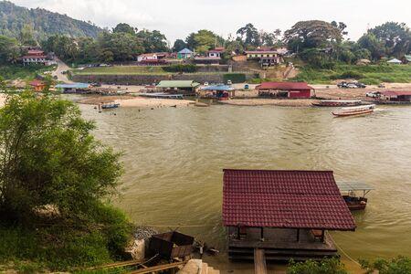 View of Tembeling river in Kuala Tahan village, Taman Negara national park, Malaysia