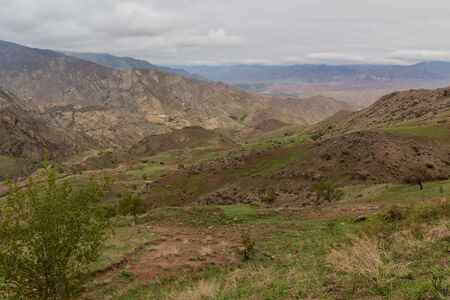 Landscape of Alamut valley in Iran