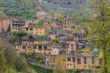 Traditional village Masuleh in Gilan province, Iran Stock Photo