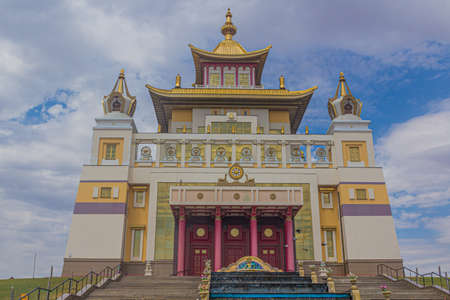 Buddhist temple complex The Golden Abode of the Buddha Shakyamuni in Elista, Russia
