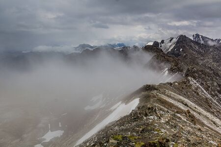 Ala-Kul pass in the Terskey Alatau mountain range in Kyrgyzstan Banco de Imagens