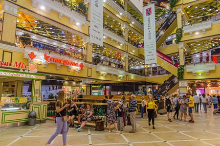 YEKATERINBURG, RUSSIA - JULY 3, 2018: Interior of the Shopping Centre Passage in Yekaterinburg, Russia