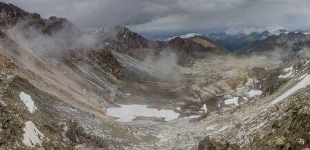 Valley near Ala Kul pass in Kyrgyzstan