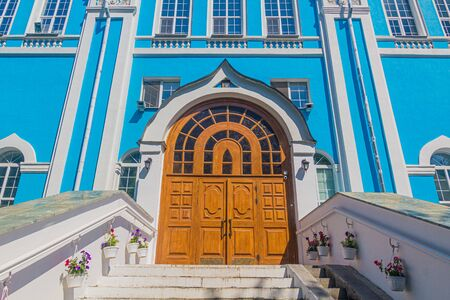 Door of the Ascension church in Yekaterinburg, Russia