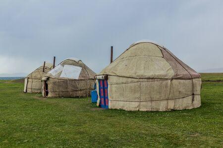 Yurt camp near Song Kul lake, Kyrgyzstan