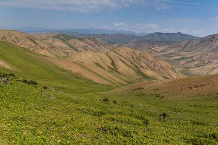 Mountains near Song Kul lake, Kyrgyzstan