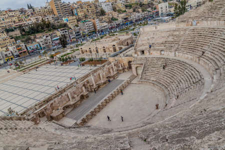 AMMAN, JORDAN - MARCH 19, 2017: View of the Roman Theatre in Amman.