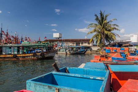 Fishing bots in the port of Kota Kinabalu, Sabah, Malaysia Stock fotó