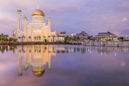 Omar Ali Saifuddien Mosque in Bandar Seri Begawan, capital of Brunei