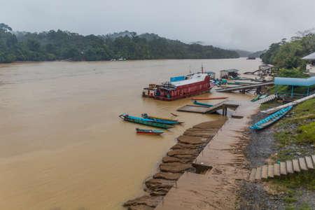 Batang Rejang river in Kapit, Sarawak, Malaysia