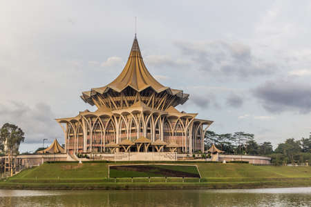 Sarawak State Legislative Assembly Building in the center of Kuching, Malaysia