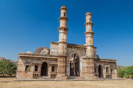 Kevda Masjid mosque in Champaner historical city, Gujarat state, India