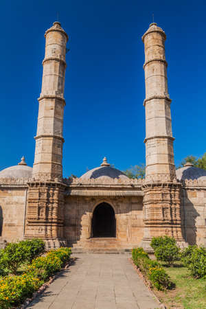 Saher Ki Masjid mosque in Champaner historical city, Gujarat state, India 新聞圖片