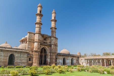 Jami Masjid mosque in Champaner historical city, Gujarat state, India