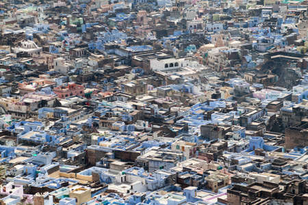 Aerial view of Bundi, Rajasthan state, India
