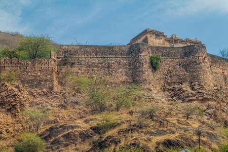 Fortification walls of Bundi, Rajasthan state, India