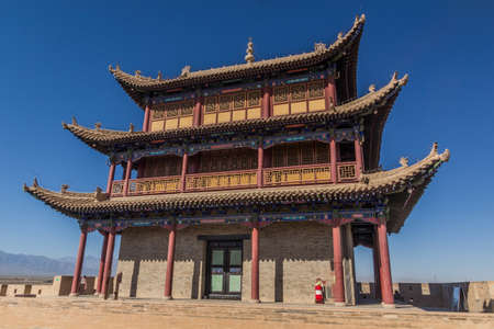 Tower of Jiayuguan Fort, Gansu Province, China