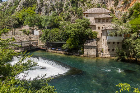 Tekija house and Buna river in Blagaj village near Mostar, Bosnia and Herzegovina