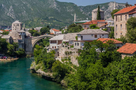 Stari most (Old Bridge) in Mostar. Bosnia and Herzegovina