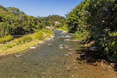 Yaque del Norte river in Jarabacoa, Dominican Republic