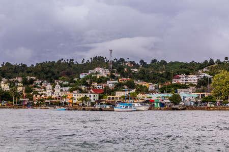 View of Samana town, Dominican Republic Foto de archivo