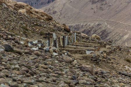 Cemetery in Langar village in Wakhan valley between Tajikistan and Afghanistan