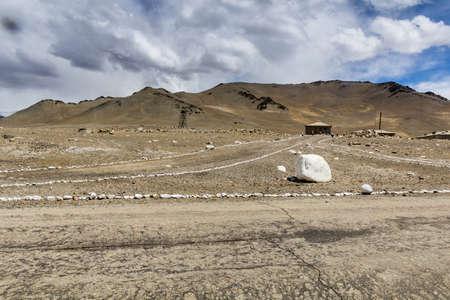 Roads in Karakul village in Gorno-Badakhshan Autonomous Region, Tajikistan