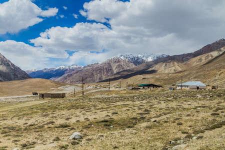 Village in Gunt river valley in Pamir mountains, Tajikistan