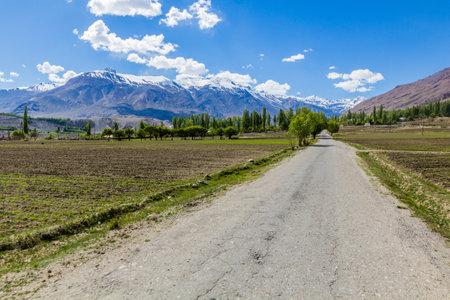 Road in Wakhan valley, Tajikistan