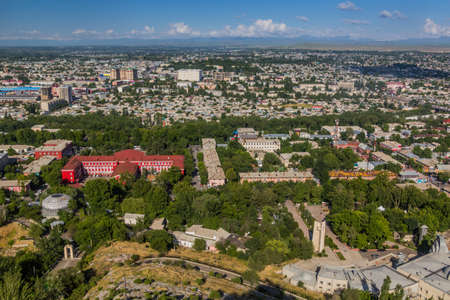 Aerial view of Osh, Kyrgyzstan