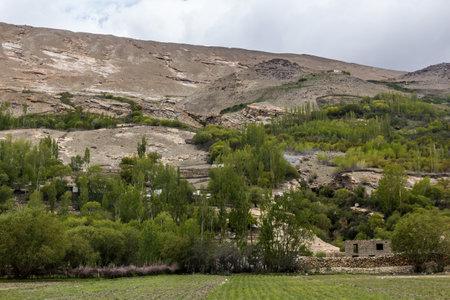 Village in Wakhan valley, Tajikistan Foto de archivo