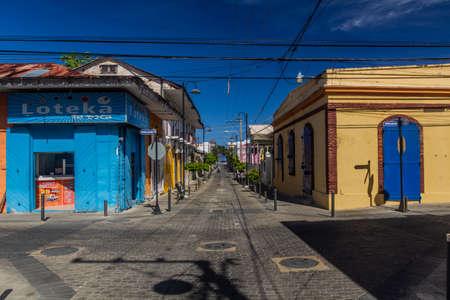 PUERTO PLATA, DOMINICAN REPUBLIC - DECEMBER 16, 2018: Street in the center of Puerto Plata, Dominican Republic