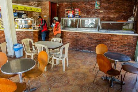 PUERTO PLATA, DOMINICAN REPUBLIC - DECEMBER 13, 2018: Interior of an eatery in Puerto Plata, Dominican Republic