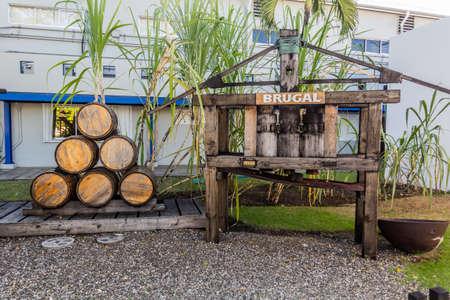 PUERTO PLATA, DOMINICAN REPUBLIC - DECEMBER 13, 2018: Grounds of Brugal Rum Plant in Puerto Plata, Dominican Republic Editorial