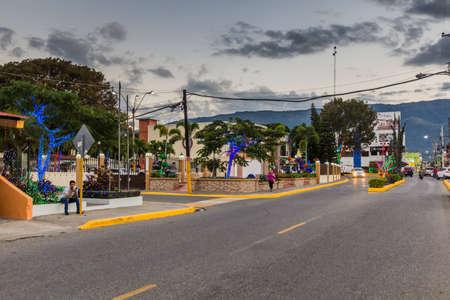 JARABACOA, DOMINICAN REPUBLIC - DECEMBER 10, 2018: Christmas decorations in Jarabacoa, Dominican Republic Editorial