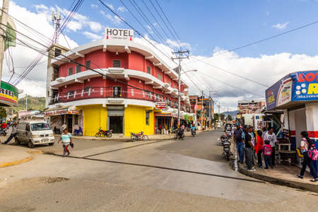 CONSTANZA, DOMINICAN REPUBLIC - DECEMBER 11, 2018: View of a street in Constanza, Dominican Republic