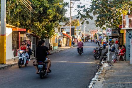 JARABACOA, DOMINICAN REPUBLIC - DECEMBER 9, 2018: Street traffic in Jarabacoa, Dominican Republic