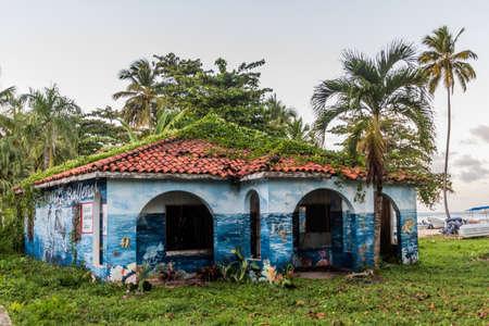LAS GALERAS, DOMINICAN REPUBLIC - DECEMBER 5, 2018: Colorful house on a beach in Las Galeras, Dominican Republic Editorial