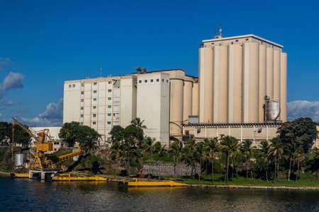 SANTO DOMINGO, DOMINICAN REPUBLIC - DECEMBER 2, 2018: Molinos del Ozama mills in Santo Domingo, capital of Dominican Republic.