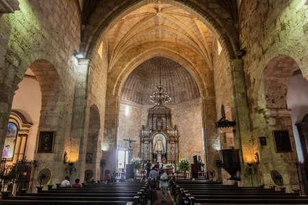 SANTO DOMINGO, DOMINICAN REPUBLIC - NOVEMBER 18, 2018: Interior of Mercedes church in Santo Domingo, capital of Dominican Republic. Editorial