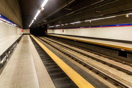 SANTO DOMINGO, DOMINICAN REPUBLIC - NOVEMBER 29, 2018: View of a metro station in Santo Domingo, capital of Dominican Republic. Editorial