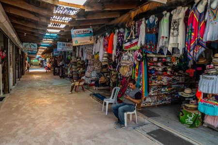 BAVARO, DOMINICAN REPUBLIC - DECEMBER 8, 2018: Souvenir market in Bavaro, Dominican Republic