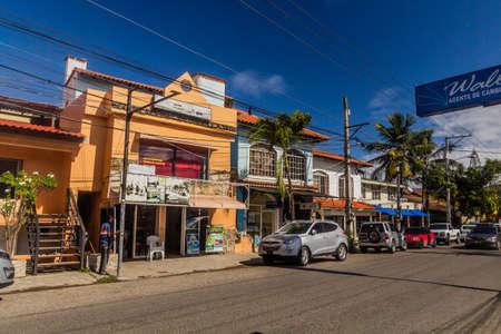 CABARETE, DOMINICAN REPUBLIC - DECEMBER 14, 2018: Main road in Cabarete, Dominican Republic