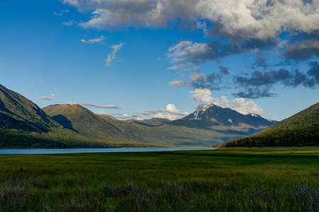 Montain View over Eklutna Lake near Anchorage