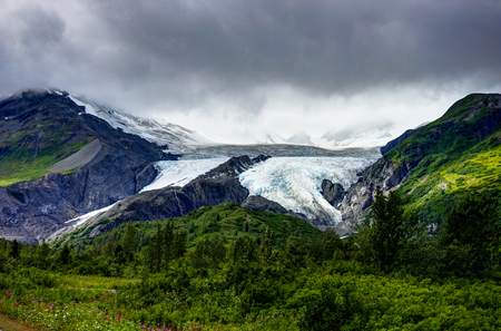 View towards Worthington Glacier in Alaska United States of Amer