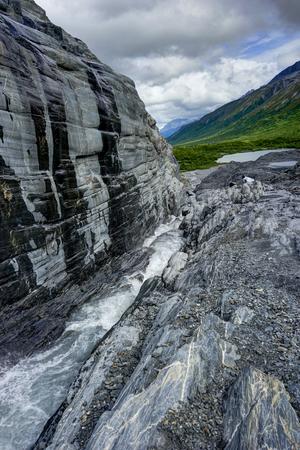 Ice Cave at Worthington Glacier in Alaska United States of Ameri
