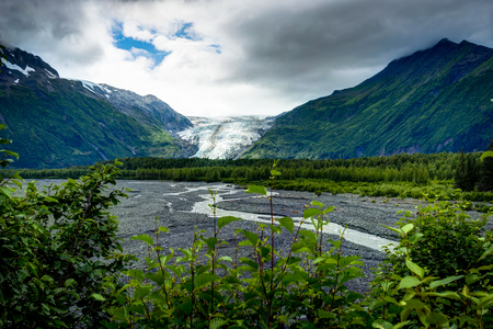 Exit Glacier in Seward in Alaska United States of America Stock Photo