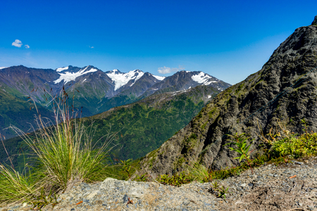 View towards and from Mount Alyeska in Alaska United States of A